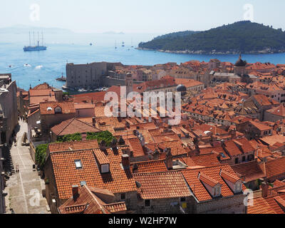 Dubrovnik terracotta roofs old town - Stock Photo