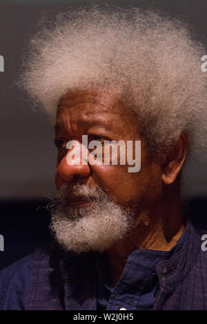 Nigerian writer and Nobel Prize winner Wole Soyinka is guest of 2019 Turin Book Fair - Stock Photo
