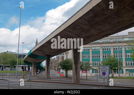 The Churchill Way flyovers in Liverpool UK to be demolished this summer because they're no longer safe to carry traffic and too expensive to repair - Stock Photo