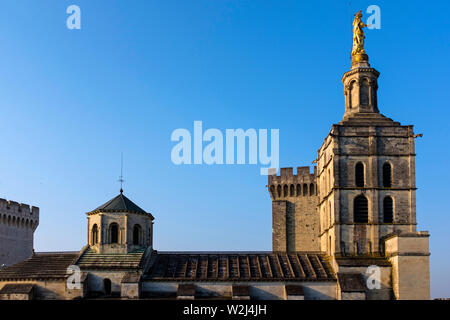 Palace of the Popes, Avignon, Southern France - Stock Photo