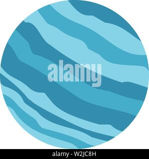 Blue planet icon. Flat illustration of blue planet vector icon for web design - Stock Photo