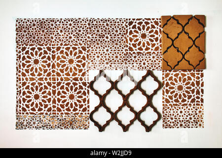 Background with geometric figures in Arabic style - Stock Photo