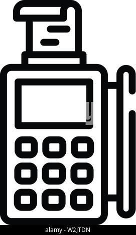 Pos machine icon, outline style - Stock Photo