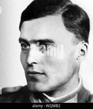 Claus von Stauffenberg, Claus Philipp Maria Schenk Graf von Stauffenberg (1907 – 1944) German army officer. Stauffenberg was one of the leading members of the failed 20 July plot of 1944 to assassinate Adolf Hitler, he was executed by firing squad shortly after the failed attempt known as Operation Valkyrie. - Stock Photo