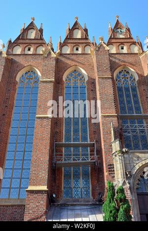 Collegiate Church of the Holy Cross and St. Bartholomew, Wrocław, Poland, Europe - Stock Photo