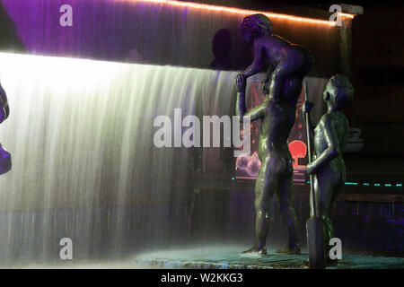 Villahermosa,Tabasco,Mexico.December 18th, 2008.Fountain of the Naughty Children, cultural heritage of Tabasco. - Stock Photo