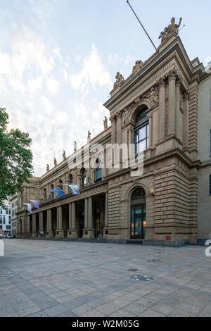 Frankfurt, Germany. July 2019.  The Frankfurt stock exchange building - Stock Photo