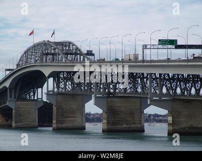 Motorway Bridge Auckland New Zealand - Stock Photo