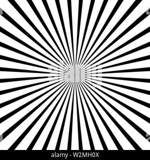 Black and white radial lines optical illusion vector graphic Stock Photo