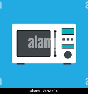 Microwave flat style icon. Vector eps10 illustration - Stock Photo