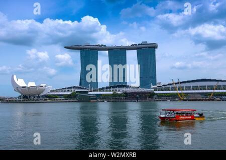 Singapore, Marina Bay, Marina Bay Sands. - Stock Photo