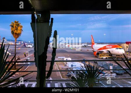 France, Paca, Alpes Maritimes, Nice Cote d´Azur airport. - Stock Photo