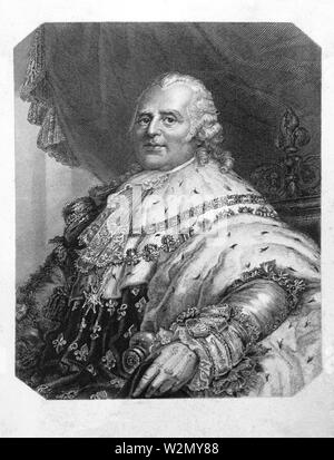 Louis XVIII of France..Louis XVIII (Louis Stanislas Xavier; 17 November 1755-16 September 1824), known as 'the Desired' (le Désiré), was a monarch of - Stock Photo