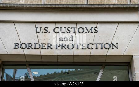 US Customs and Border Protection US Department of Homeland Security Ronald Reagan International Trade Building Washington DC. - Stock Photo