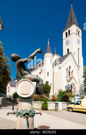 central square in Tokaj, Hungary. - Stock Photo