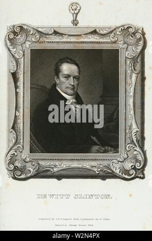 De Witt Clinton. Longacre, James Barton (1794-1869) (Engraver) Catlin, George (1796-1872) (Artist). Emmet Collection of Manuscripts Etc. Relating to - Stock Photo