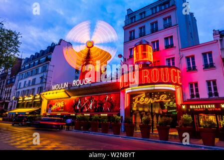 Moulin Rouge (French for Red Windmill) is a tourist attraction in Pigalle on Boulevard de Clichy, 18th arrondissement. It is best known as the