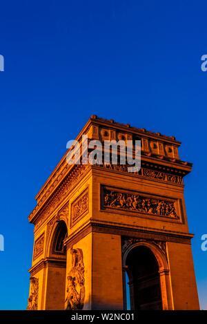 The Arc de Triomphe (The Arc de Triomphe de l'Étoile) is one of the most famous monuments in Paris, France, standing at the western end of the