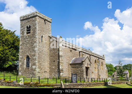 St Oswald's Church, Castle Bolton, Wensleydale, Yorkshire, England. - Stock Photo