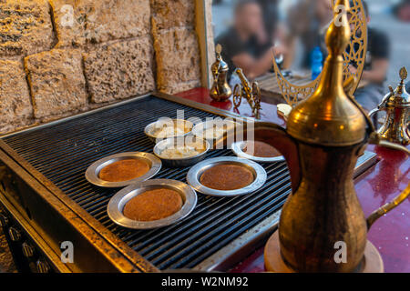 Personal knafeh in a tray - Stock Photo