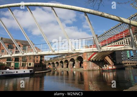 Castlefield is an inner city conservation area of Manchester England UK. - Stock Photo