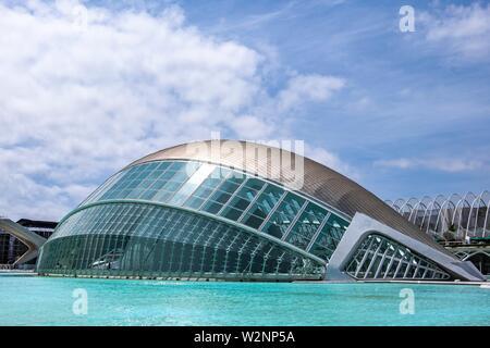 Planetarium, Ciudad de las artes y las ciencias, City of Arts and Science, Valencia, Spain, Europe.