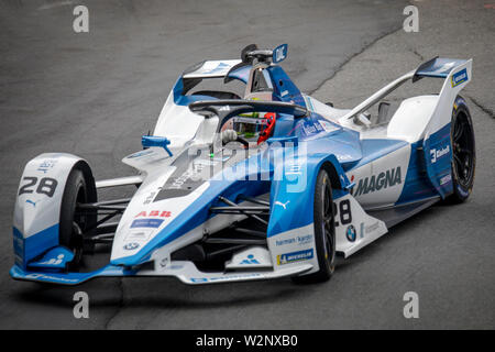 António Félix Da Costa during Qualifying session ahead of the Julius Bär Formula E race in the swiss capital Bern. - Stock Photo