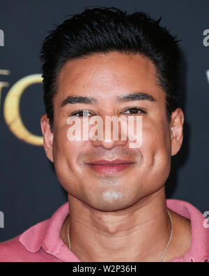 HOLLYWOOD, LOS ANGELES, CALIFORNIA, USA - JULY 09: Mario Lopez arrives at the World Premiere Of Disney's 'The Lion King' held at the Dolby Theatre on July 9, 2019 in Hollywood, Los Angeles, California, United States. (Photo by Xavier Collin/Image Press Agency) - Stock Photo