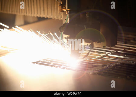 Industrial laser machine for metal - Stock Photo
