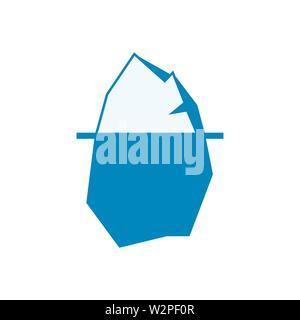 iceberg icon sign. Nature flat style sign - Stock Photo