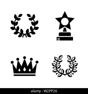 Trophy. Simple Related Vector Icons Set for Video, Mobile Apps, Web Sites, Print Projects and Your Design. Black Flat Illustration on White Background - Stock Photo