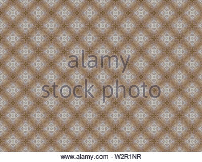 cotton canvas with a pattern of flowers and stars of cream and white - Stock Photo