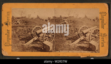 Battery B, East Cemetery Hill, Gettysburg, Pa, from Robert N Dennis collection of stereoscopic views - Stock Photo