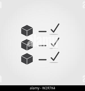 Confirmation flat icon. Monochrome creative design from blockchain icons collection. Sipmle sign illustration confirmation icon for mobile and web usa - Stock Photo
