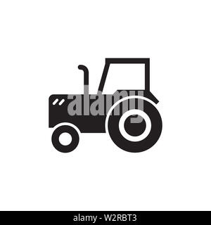 Tractor Icon In Flat Style Vector For Apps, UI, Websites. Black Icon Vector Illustration. - Stock Photo