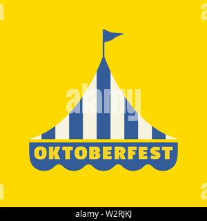 Hand drawn Oktoberfest flat color vector icon - Stock Photo