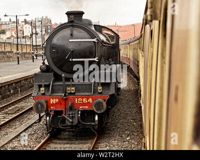 Locomotive LNER B1 61264 at Whitby Station - Stock Photo