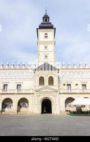Przemysl, Poland, - April 14, 2019. Krasiczyn Castle (Polish: Zamek w Krasiczynie) is a Renaissance structure in Krasiczyn, Poland. - Stock Photo