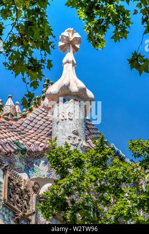 Casa Batllo, Barcelona, Catalonia, Spain - Stock Photo
