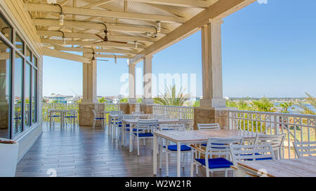 Margaritaville Resort Orlando. Main restaurant and bar Euphoria located within the resort. Two story with outside dining and balcony. - Stock Photo