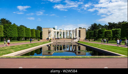 World War Two D-day memorial in the Normandy American Cemetery at Colleville-sur-Mer, France. - Stock Photo