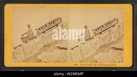 Great Tresle, Mt Washington Railway, by Kilburn Brothers - Stock Photo