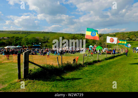Wolverton Folk and Blues Fair 2019 on the grounds of Wolverton Manor, Shorwell, Isle of Wight, England, UK. - Stock Photo