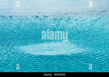 close up the circle wave in the pool. - Stock Photo