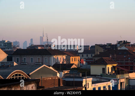 Italy, Lombardy, Milan, Bovisa district, cityscape - Stock Photo