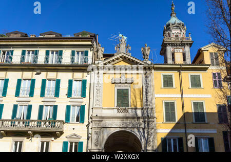 Italy, Lombardy, Varese, Piazza del Podestà, Arco Mera - Stock Photo