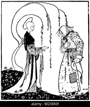 Kay Nielsen - East of the sun and west of the moon - the lassie and her godmother - Stock Photo