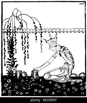 Kay Nielsen - East of the sun and west of the moon - PRINCE LINDWORM - Stock Photo