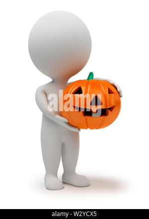 3d small people - concept for halloween. 3d image. Isolated white background. - Stock Photo