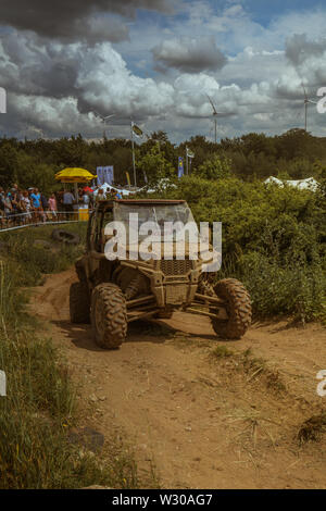 Adventure and 4WD Offroad fair in Bad Kissingen, Germany - Stock Photo